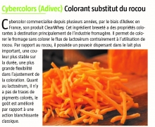 Colorant substitut du rocou